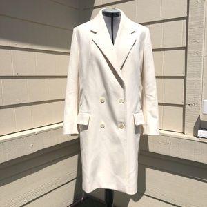 Barbara Bui Ivory Wool Cashmere Blend Coat